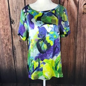 Kate Spade Size Med watercolor silk blouse